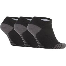 Nike Dry Lightweight No-Show Training Hardloopsokken 3 Pair grijs/zwart